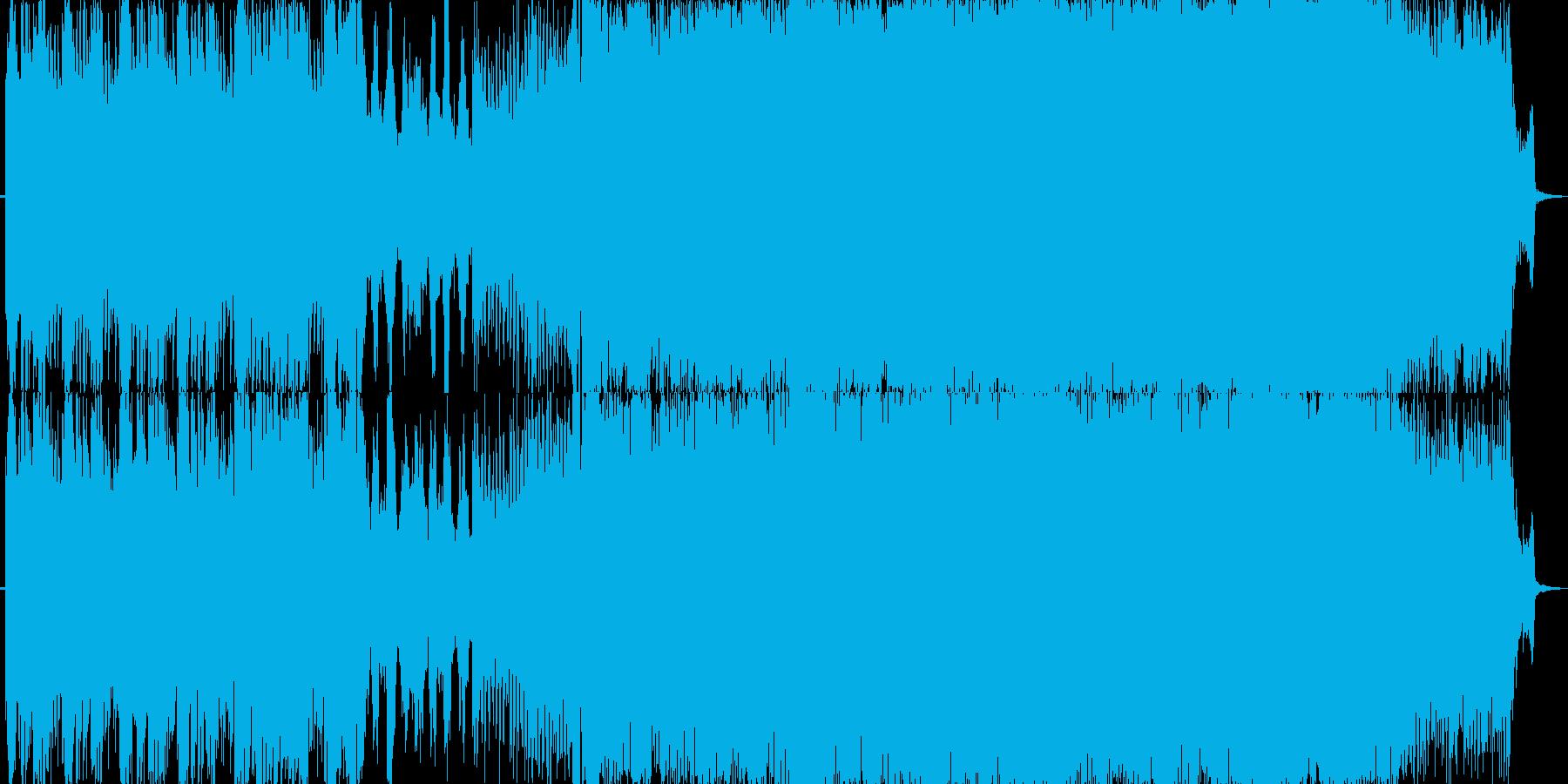 ピアノの旋律が美しいトランスの再生済みの波形
