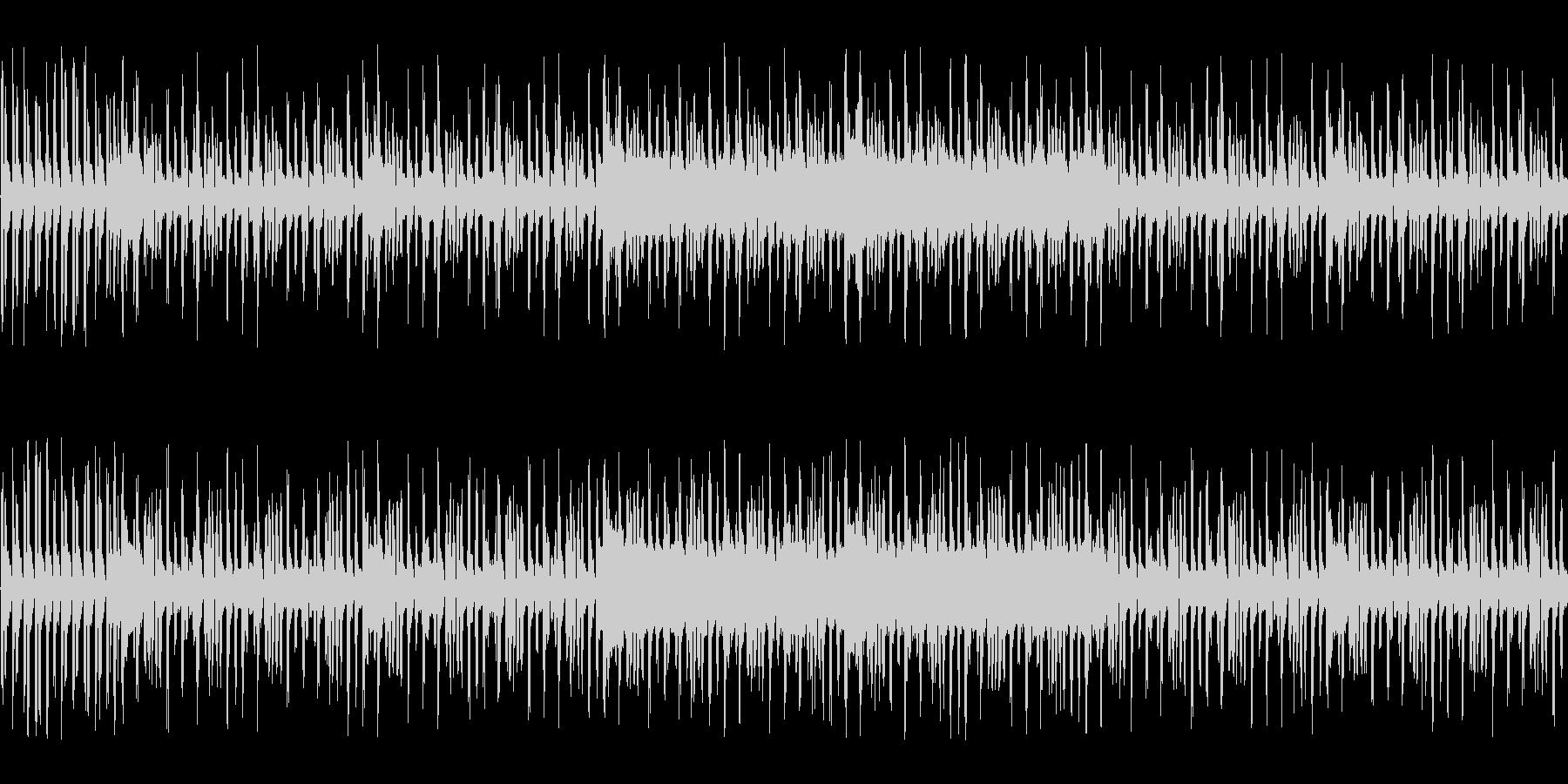 アクション向きの不思議系チップチューンの未再生の波形