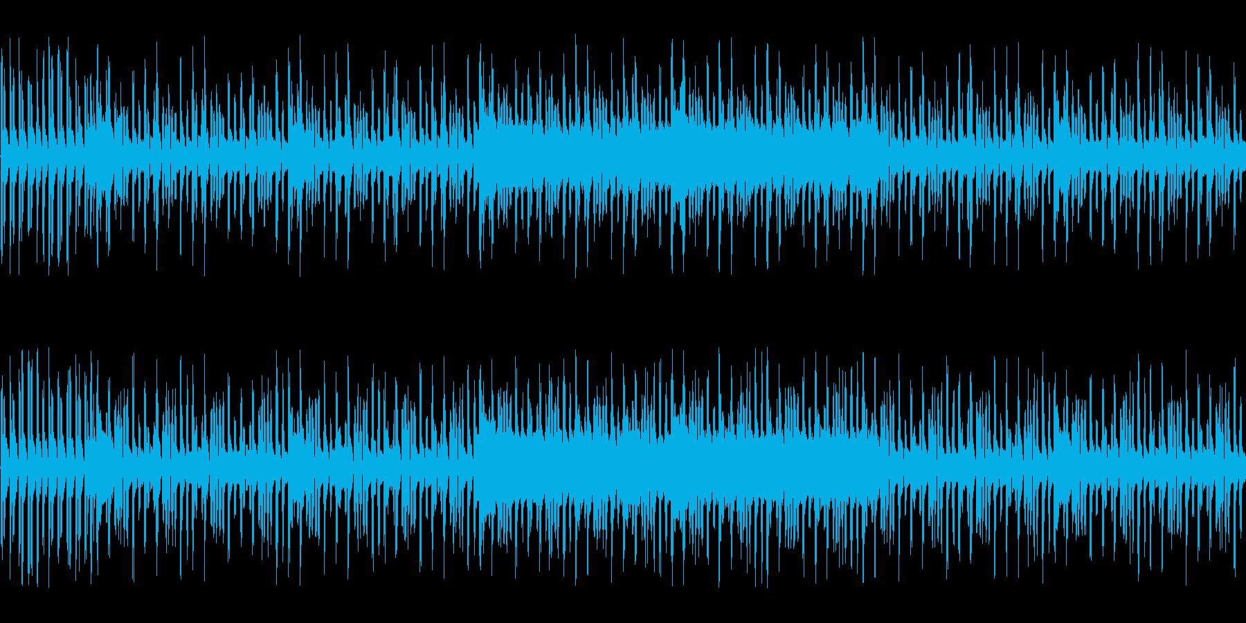 アクション向きの不思議系チップチューンの再生済みの波形