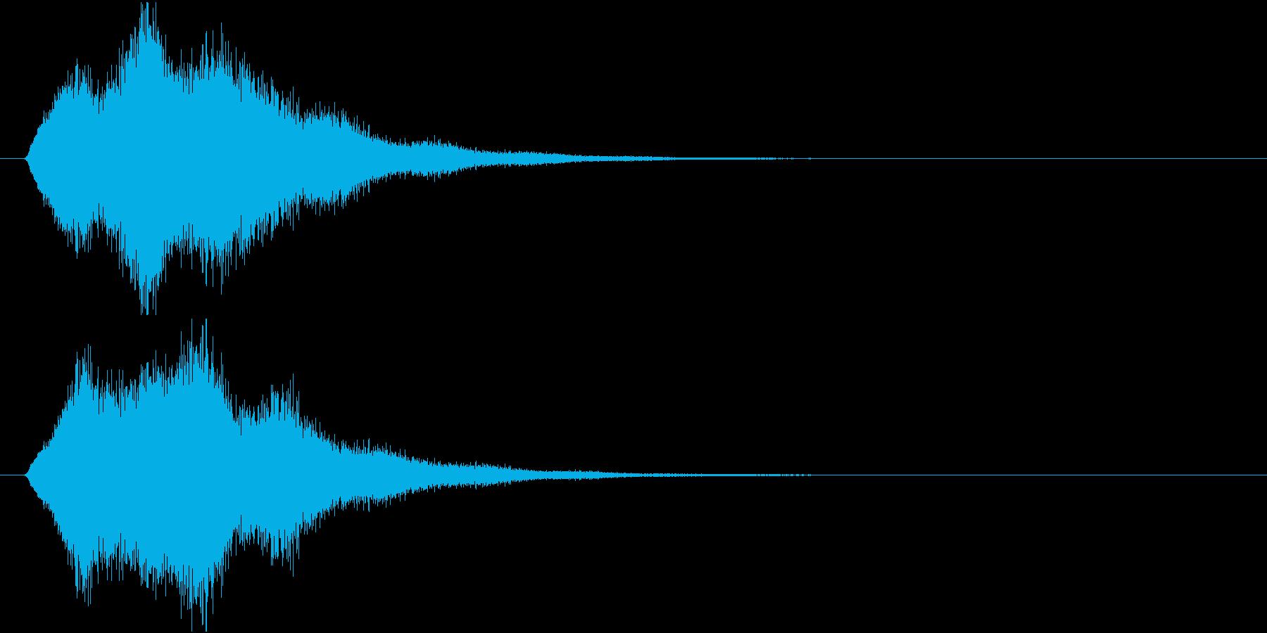 魔法や忍術系の回転音の再生済みの波形