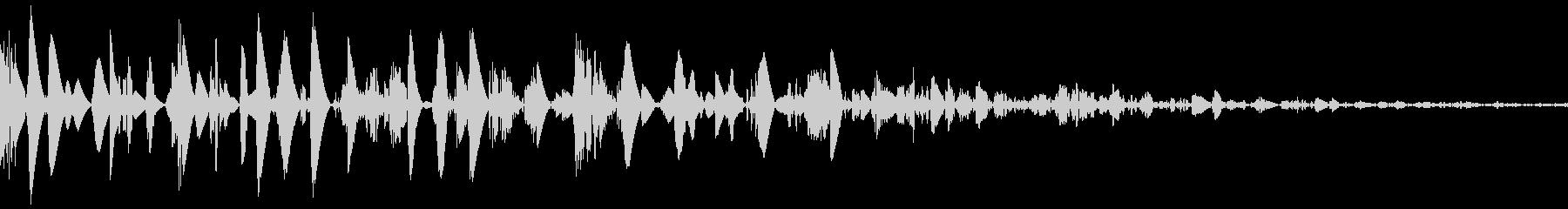 ドスン(重い 着地 倒れる)の未再生の波形