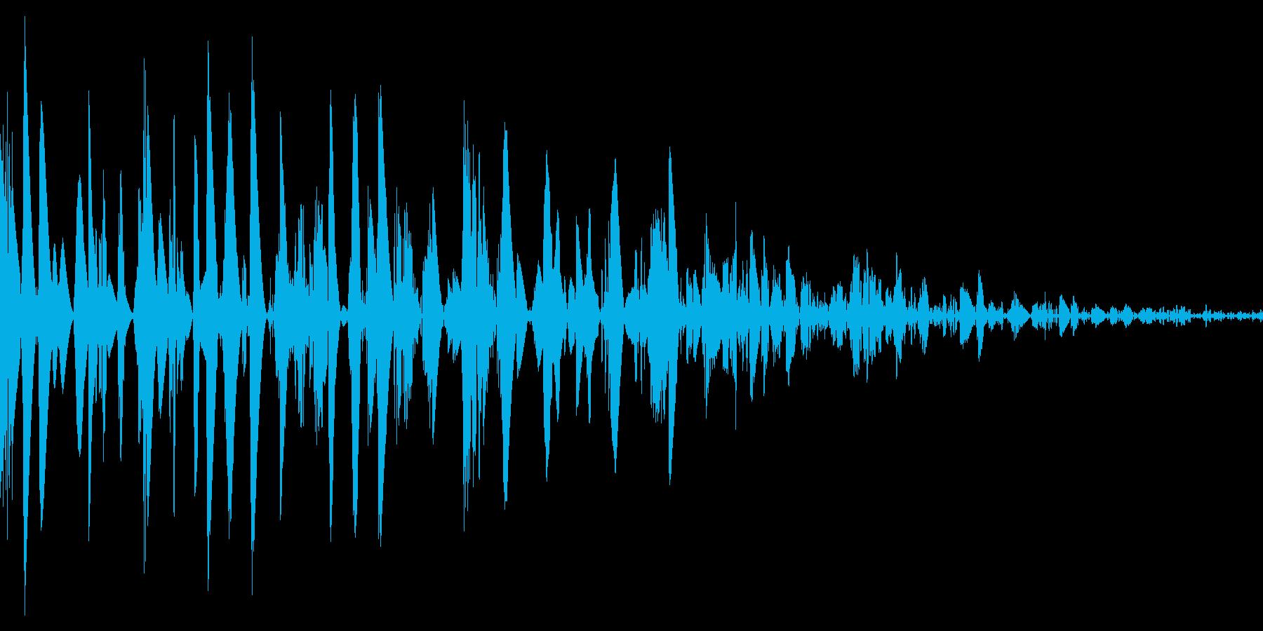 ドスン(重い 着地 倒れる)の再生済みの波形