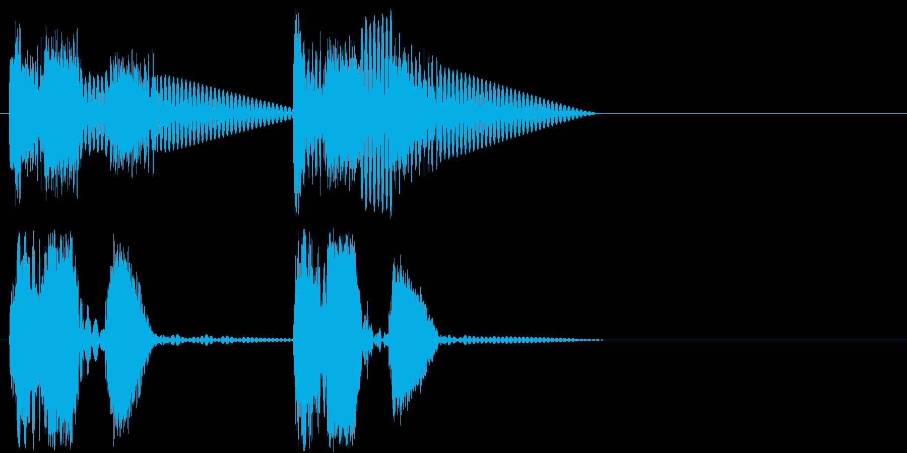 ロボットサウンド 機械音6 ロボが動く音の再生済みの波形