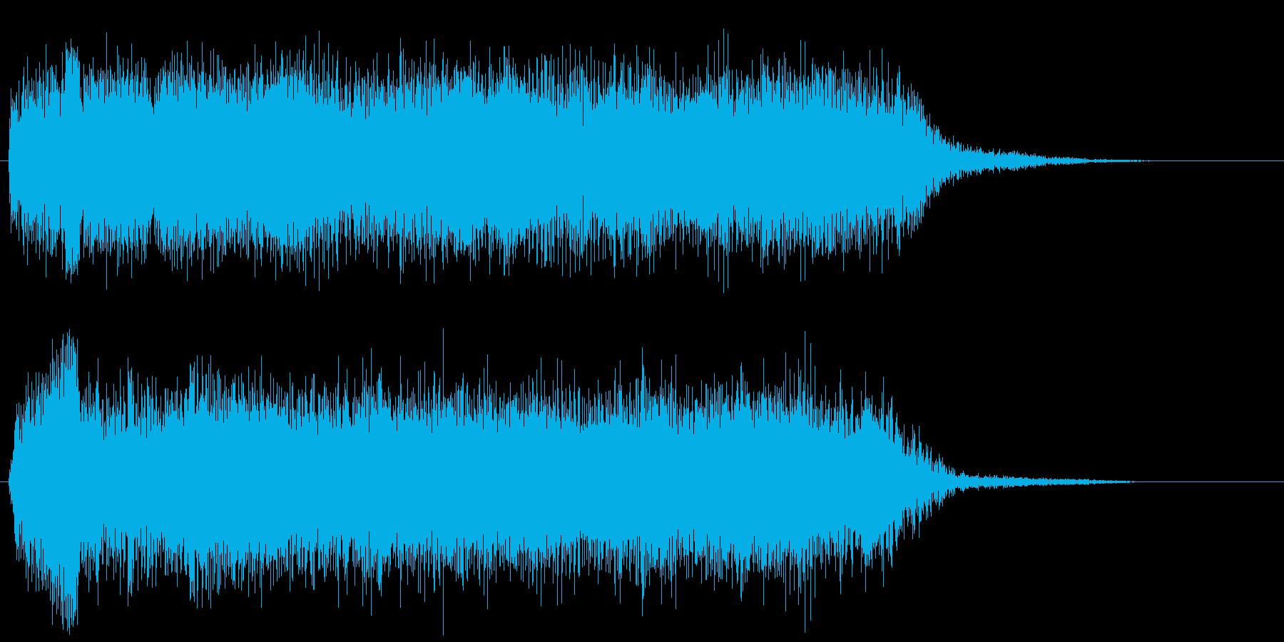 ヘビメタギター ダークなコード 場面転換の再生済みの波形