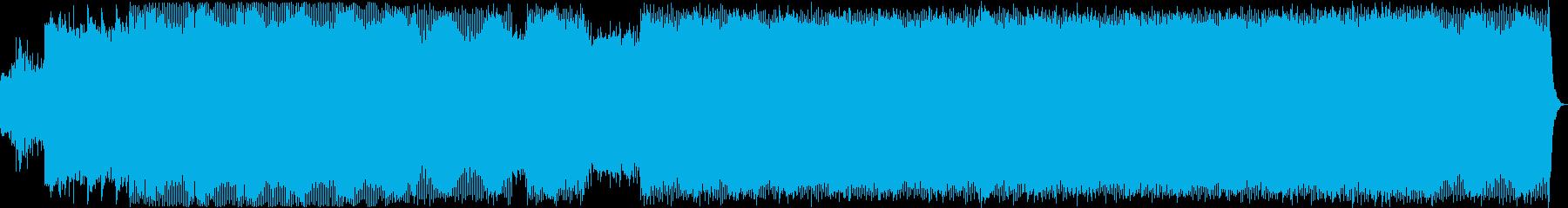ダークで激しいグリッチ、ミニマルテクノの再生済みの波形