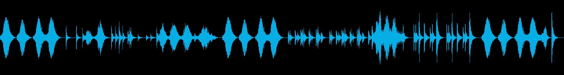 マリンバで癒しの空間を作りますの再生済みの波形