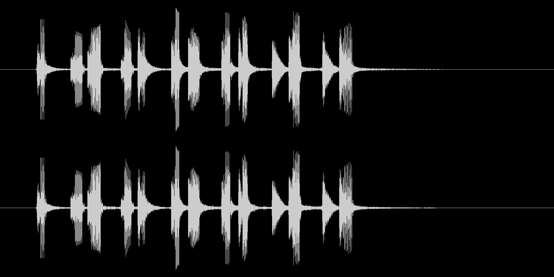 コミカルなリズム音(アニメ、ジングル)の未再生の波形