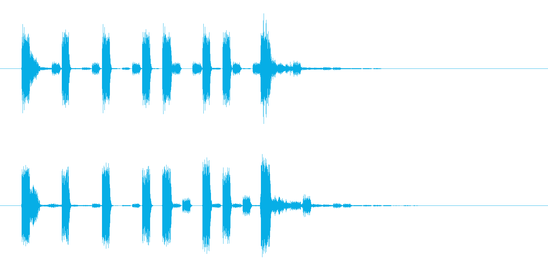 ラジオ・ネットラジオ・YouTuberの再生済みの波形