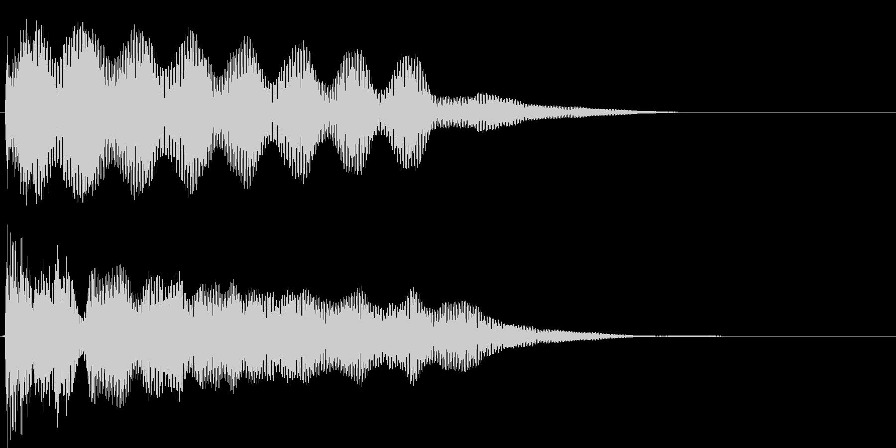 タァーーーの未再生の波形