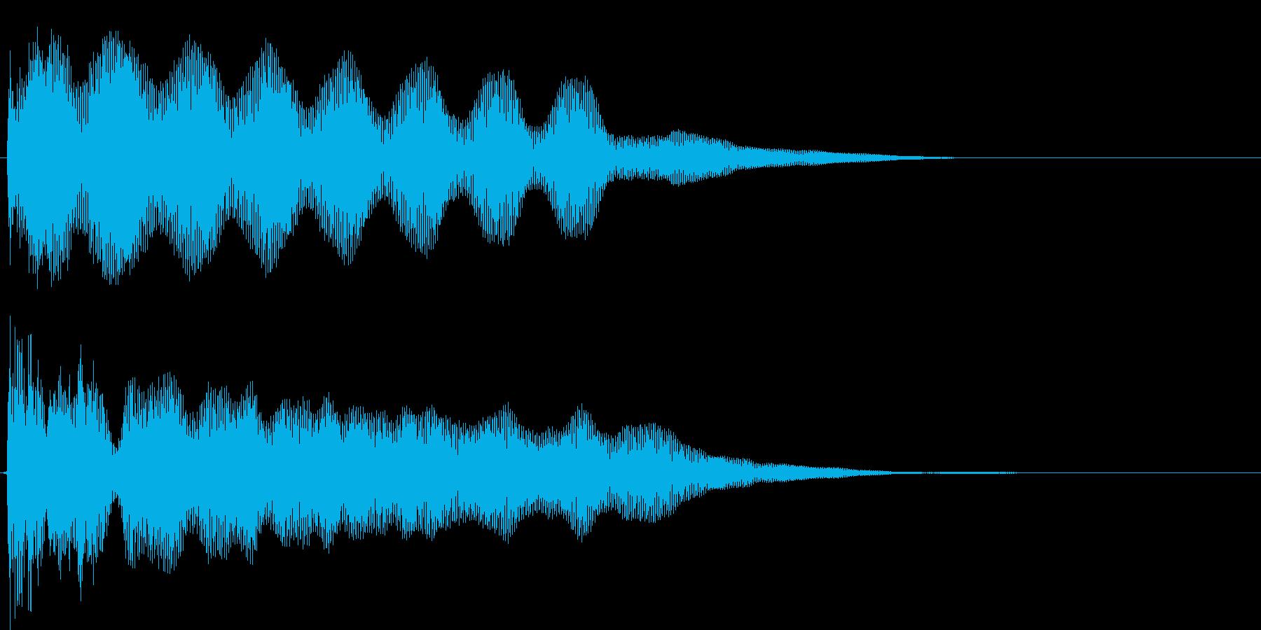 タァーーーの再生済みの波形