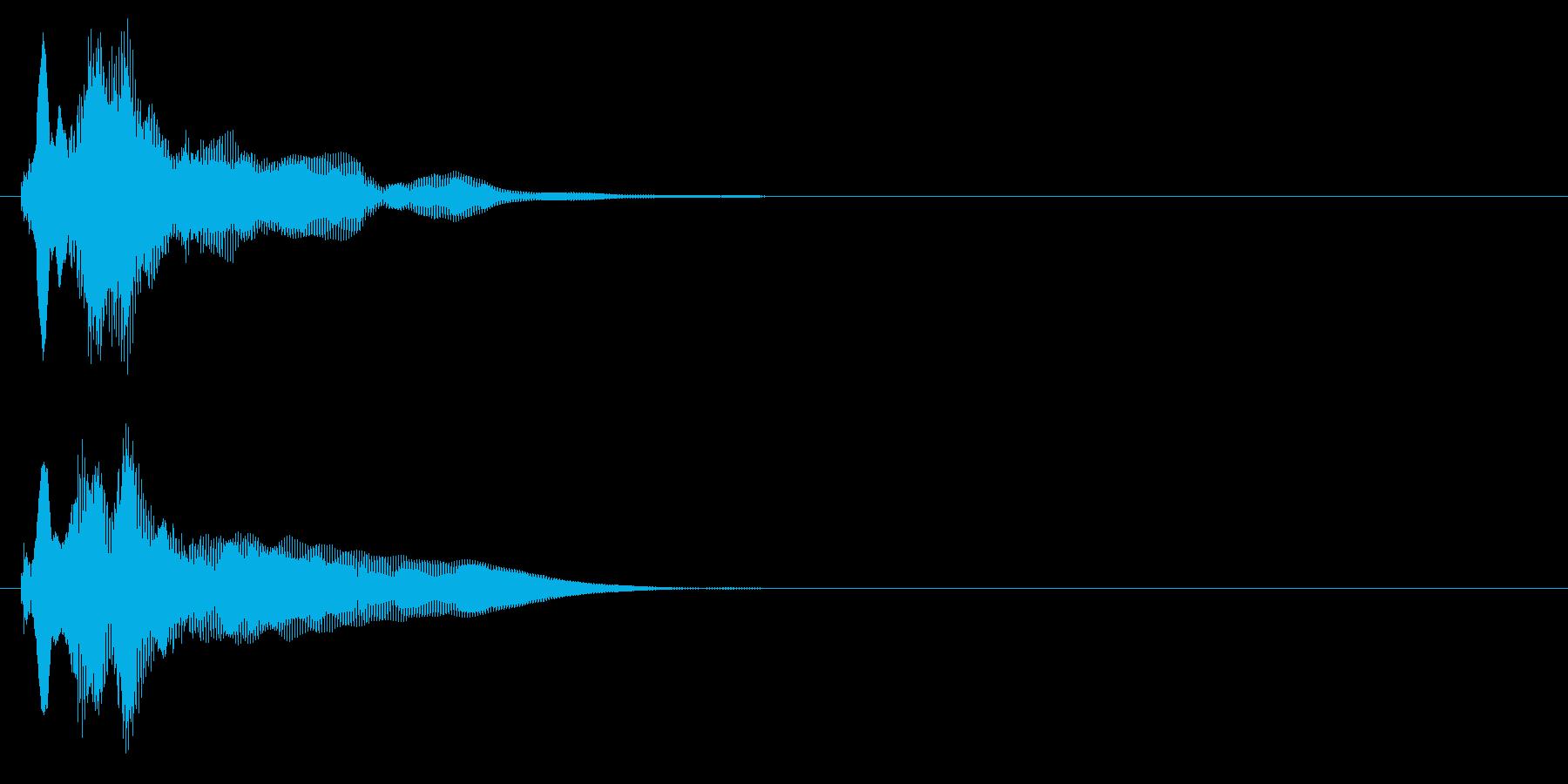 決定ボタンを押した時の音です。の再生済みの波形
