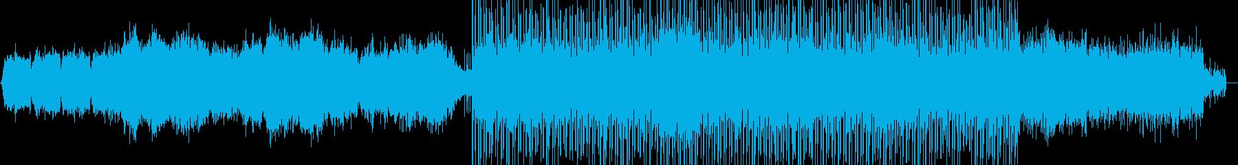 近未来的な雰囲気 1:20からリズム有りの再生済みの波形
