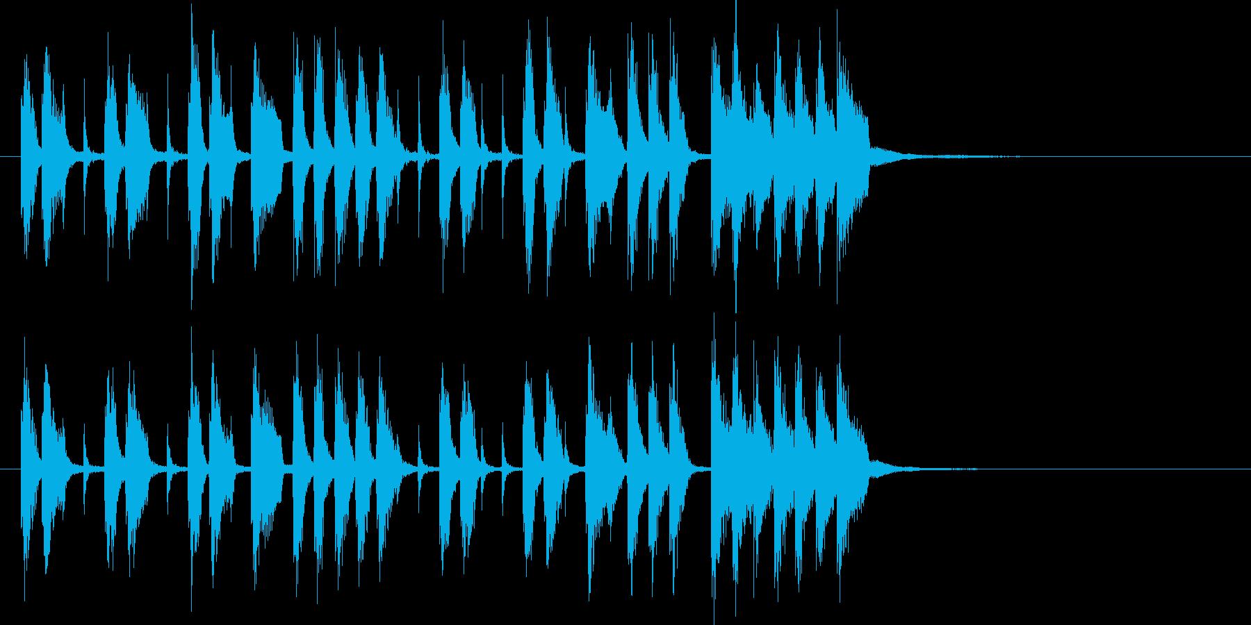 三味線や鼓による渋いブルーノート和楽の再生済みの波形