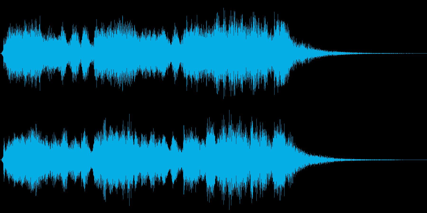 華やかな王宮オーケストラ風ジングルの再生済みの波形
