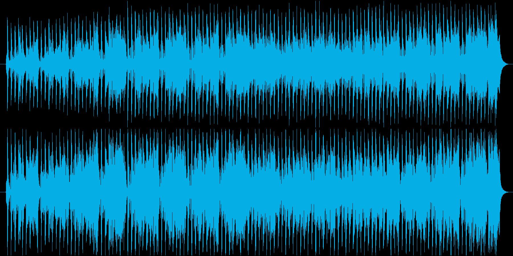 軽快なアコースティック曲の再生済みの波形