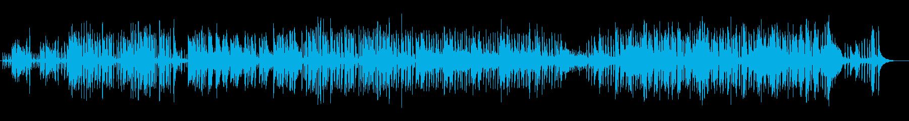 おしゃれで明るいシンセピアノサウンドの再生済みの波形