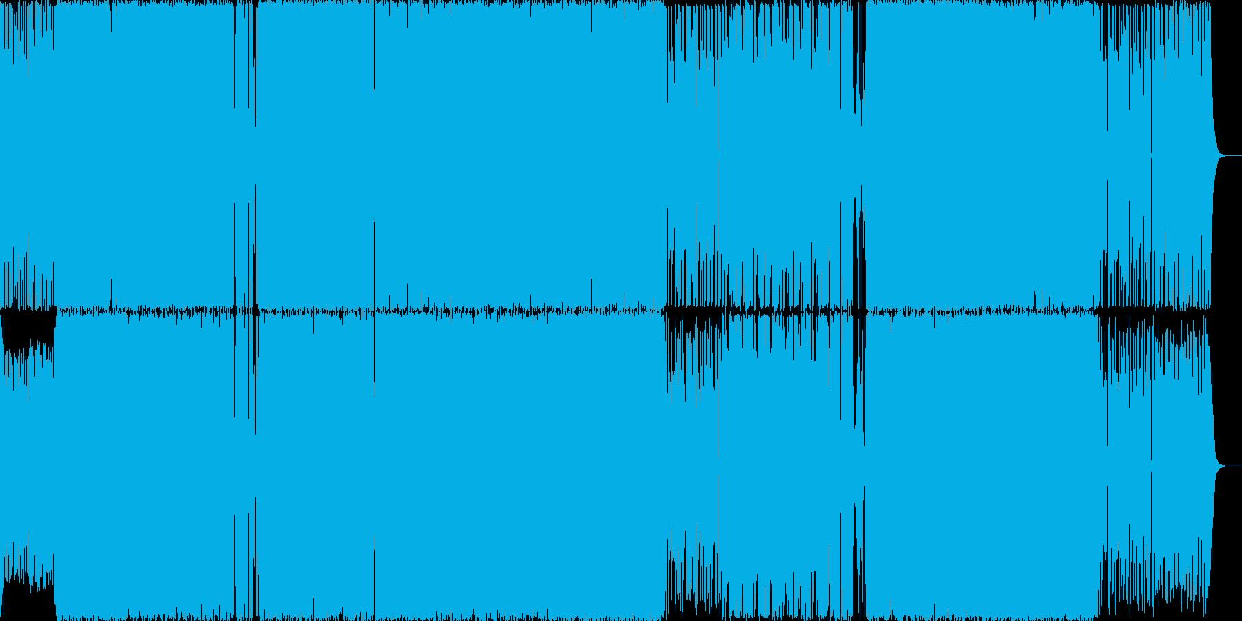 近未来的でオシャレなエレクトロロックの再生済みの波形