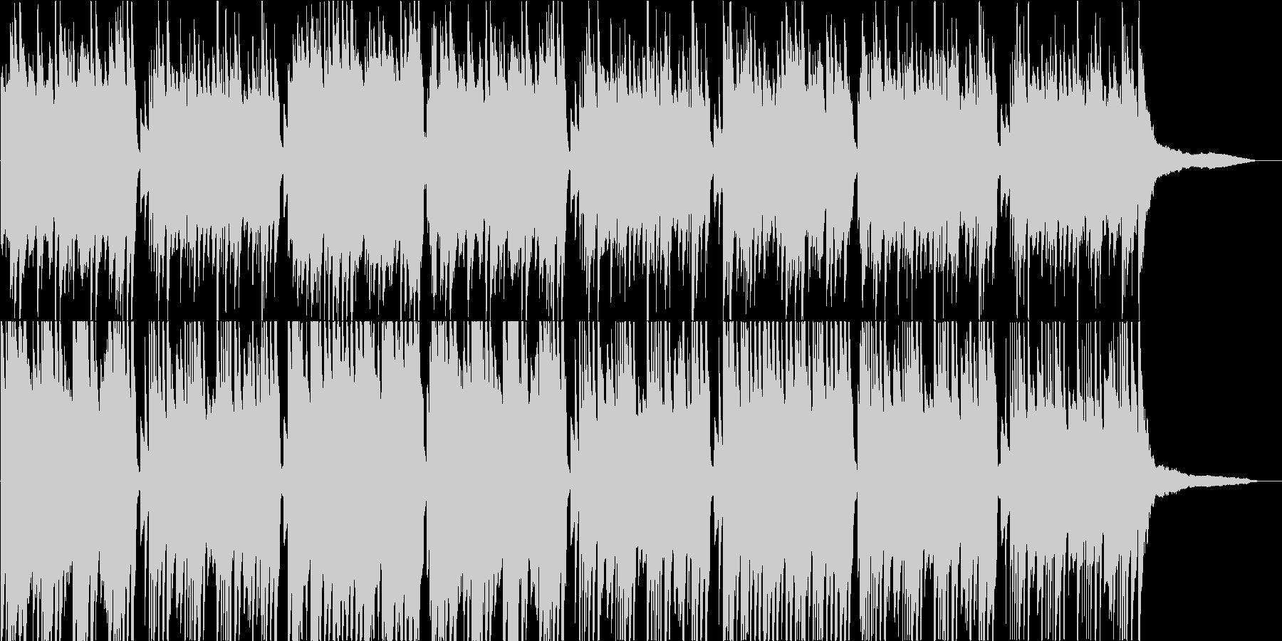 静か、かつ厳かな感じのピアノ曲の未再生の波形