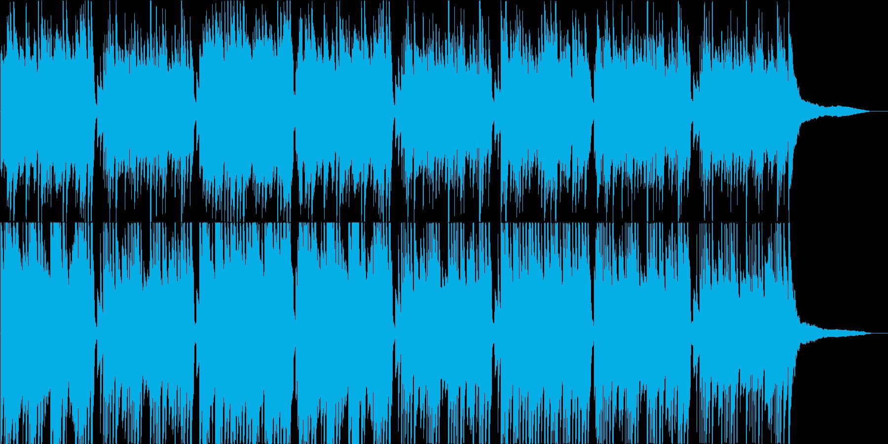 静か、かつ厳かな感じのピアノ曲の再生済みの波形