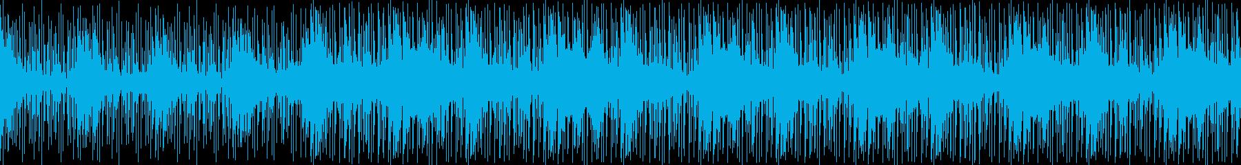 不安や疑いの感情を感じさせる曲の再生済みの波形