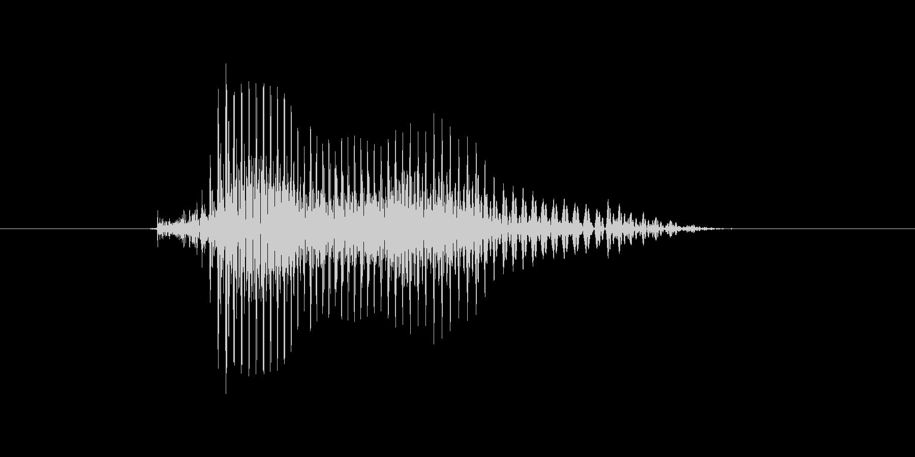 タイム!の未再生の波形