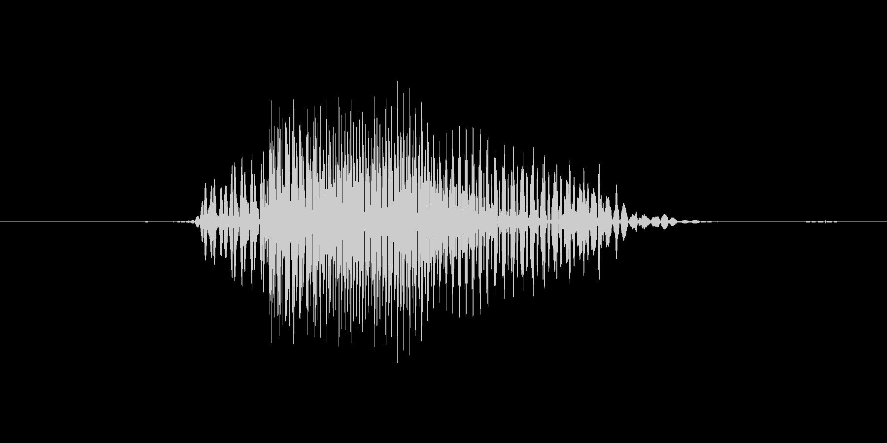 No (発音:ノー, のー、意味:いい…の未再生の波形