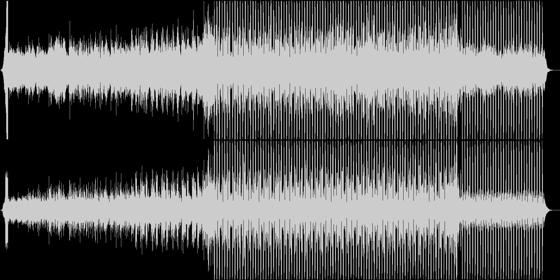 浮遊感のあるディープなハウスの未再生の波形
