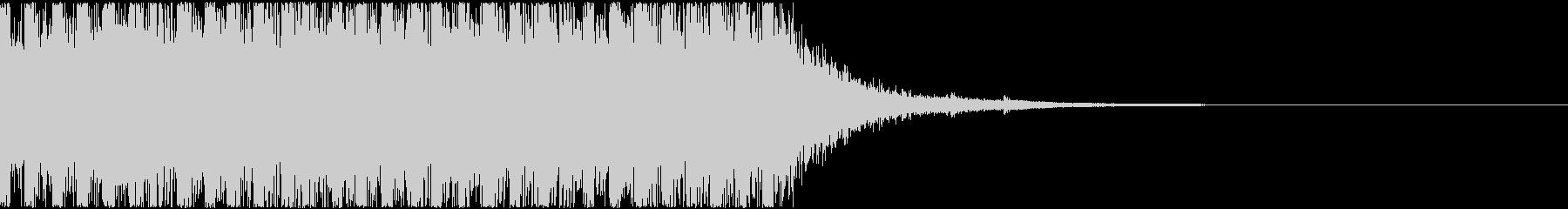 軽い発砲音の連写(マガジンの音)の未再生の波形