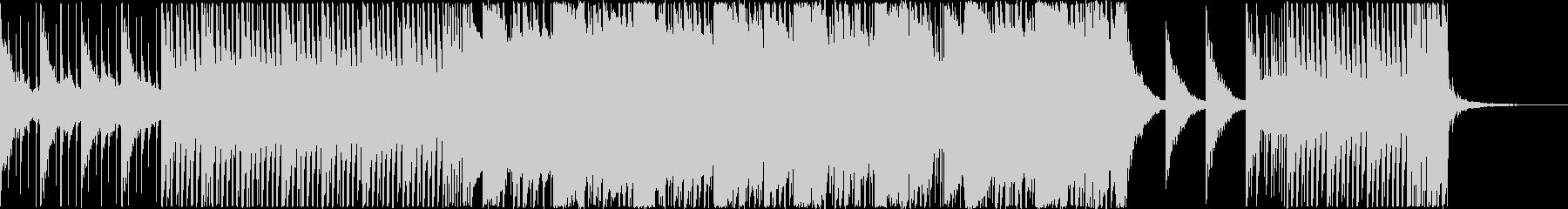 若干スピードの速いダブステップ的な楽曲の未再生の波形