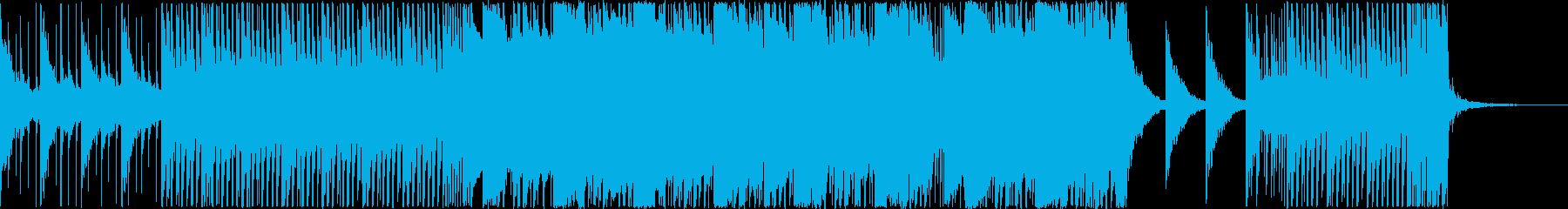 若干スピードの速いダブステップ的な楽曲の再生済みの波形