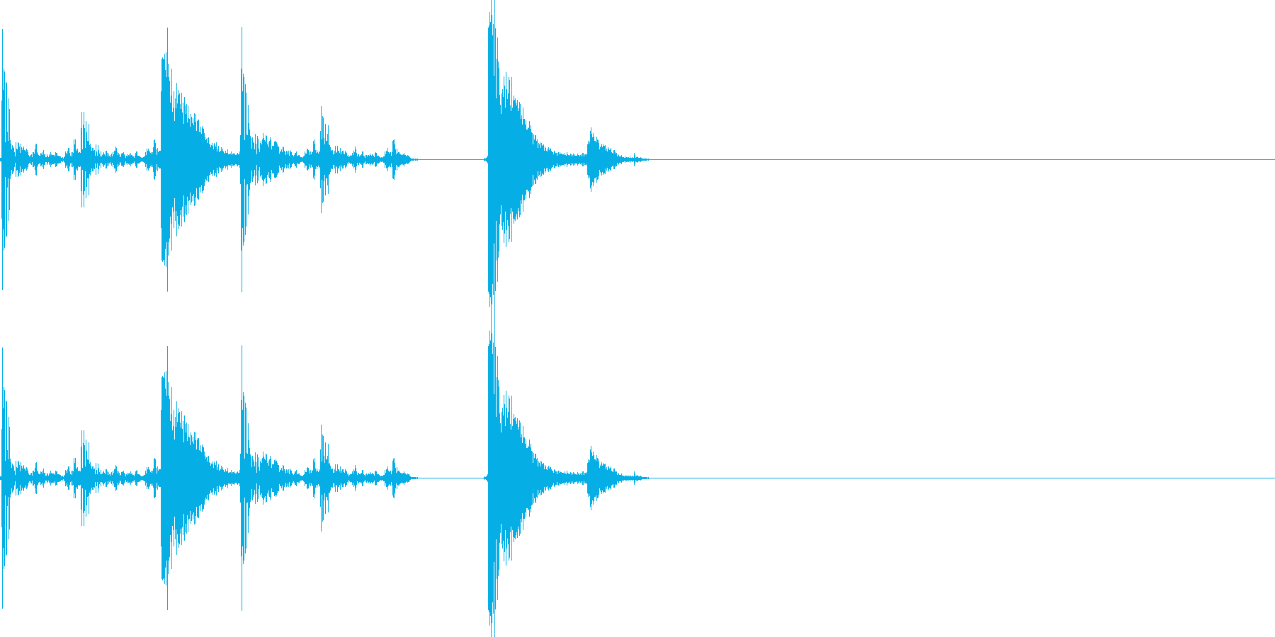 ダッシュ音の再生済みの波形