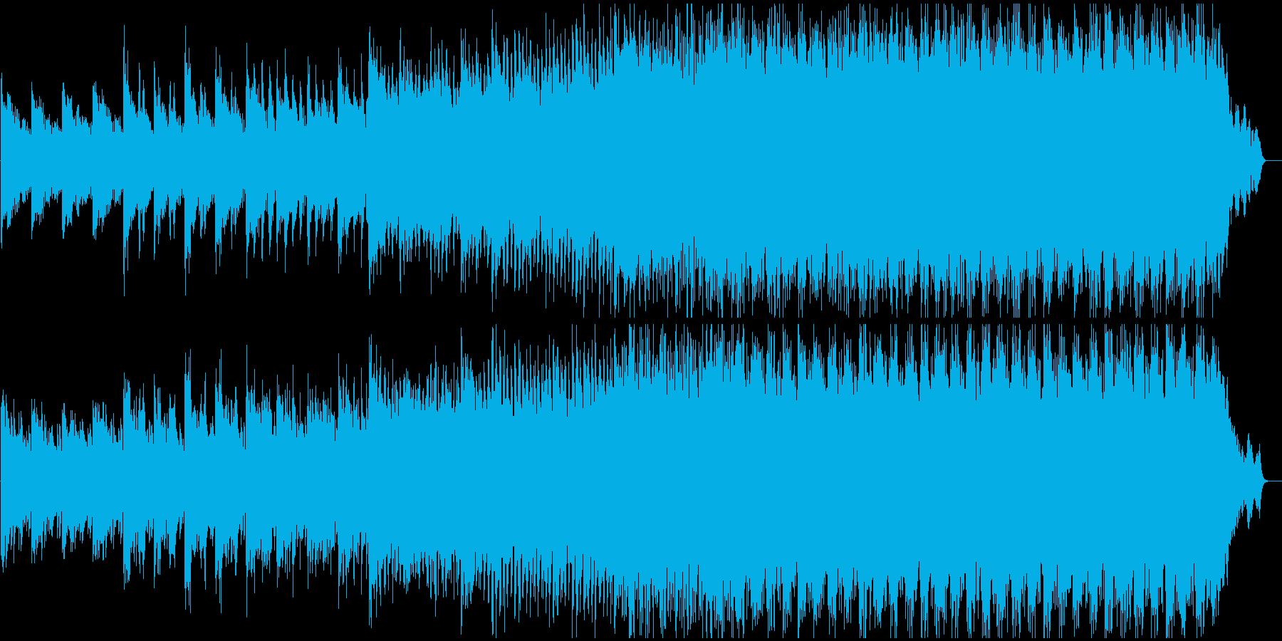 オープニングに最適な高揚感と情緒のある曲の再生済みの波形
