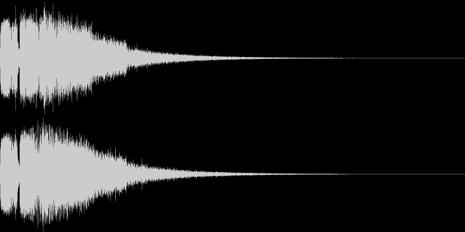 ピコピコ キューン ヒューン シューンCの未再生の波形