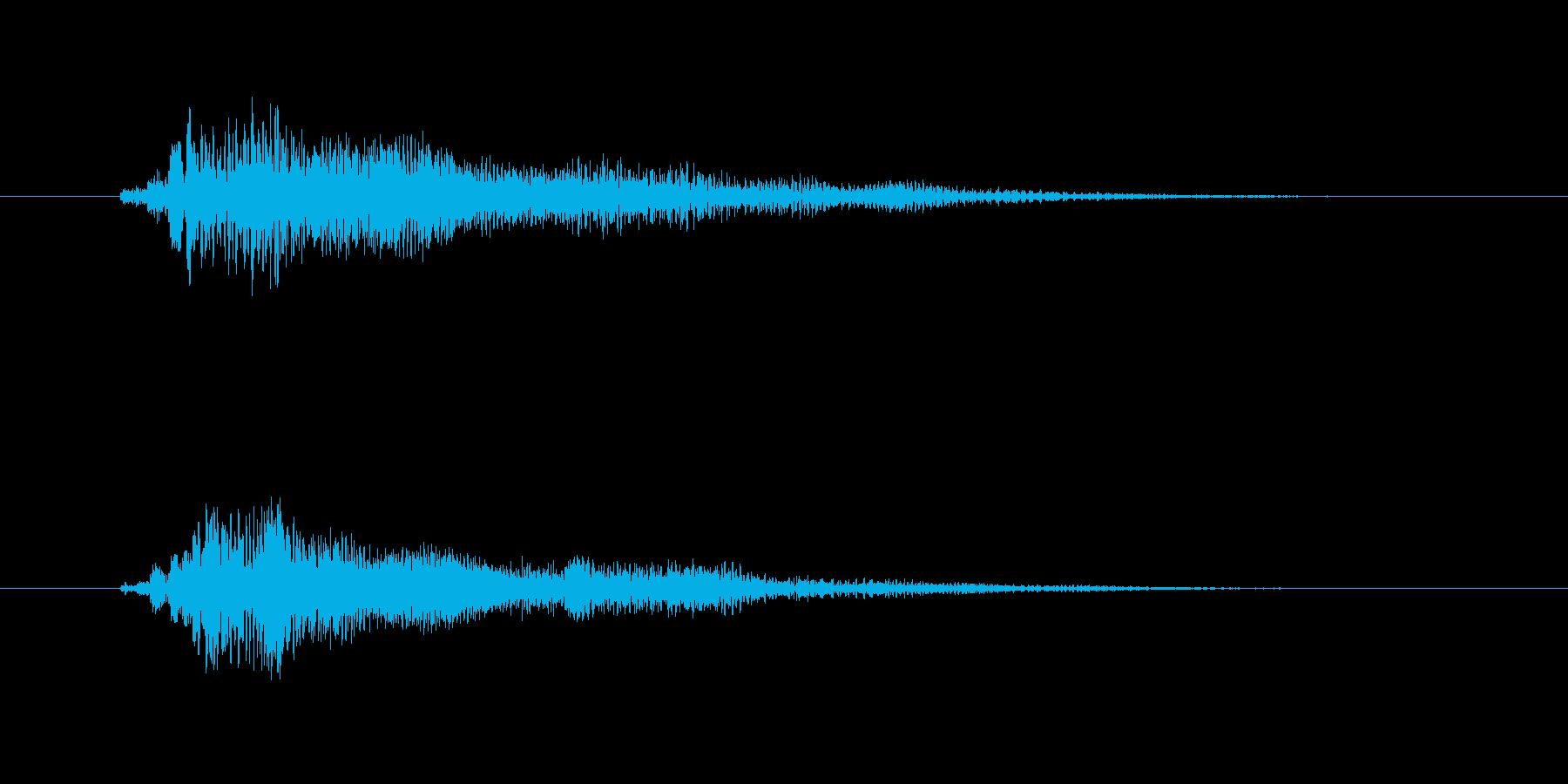 キラキラした弦楽器メロディーの再生済みの波形