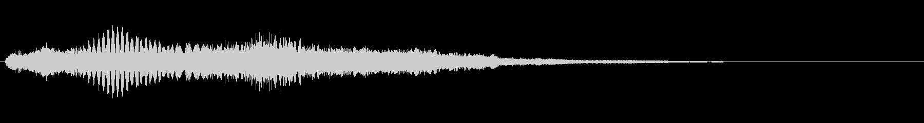 アイテム獲得やクイズで正解時の音の未再生の波形