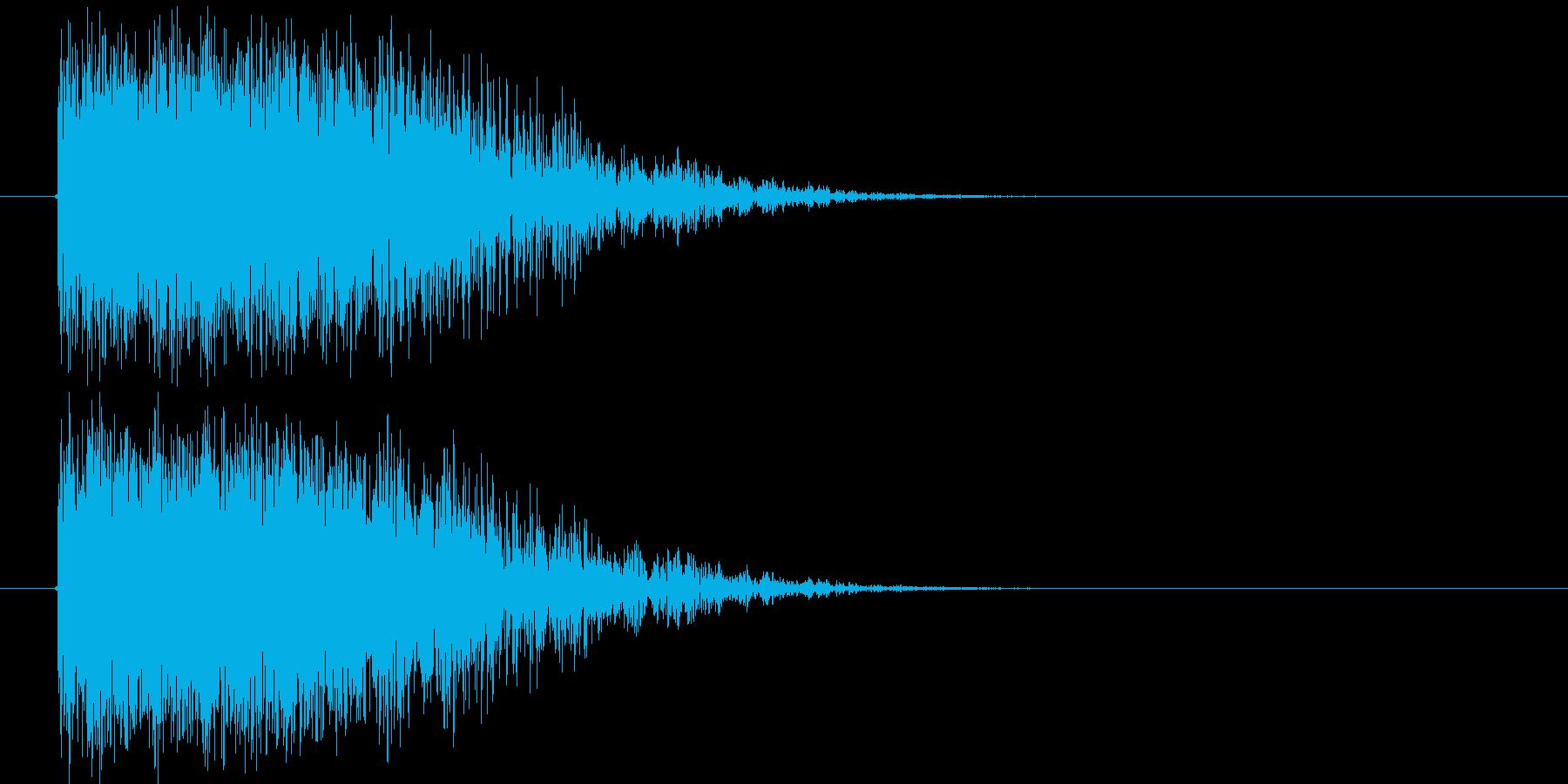 爆発音_砲撃音の再生済みの波形