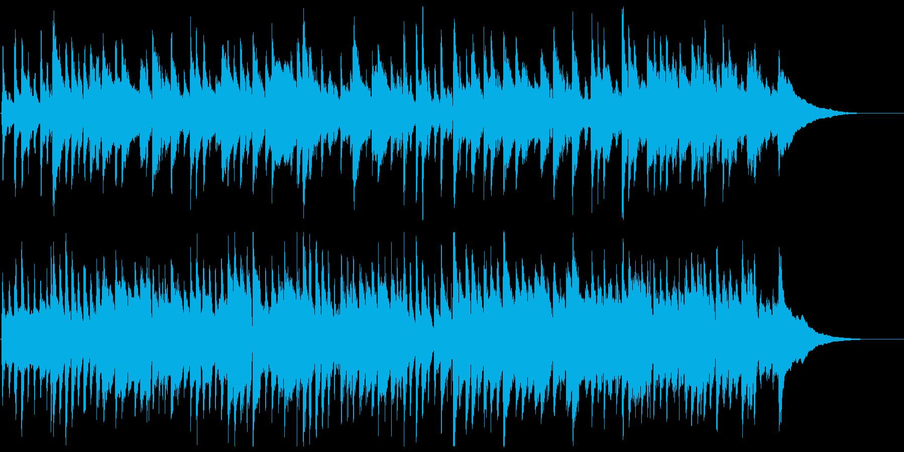 癒しのアコースティックギター曲の再生済みの波形