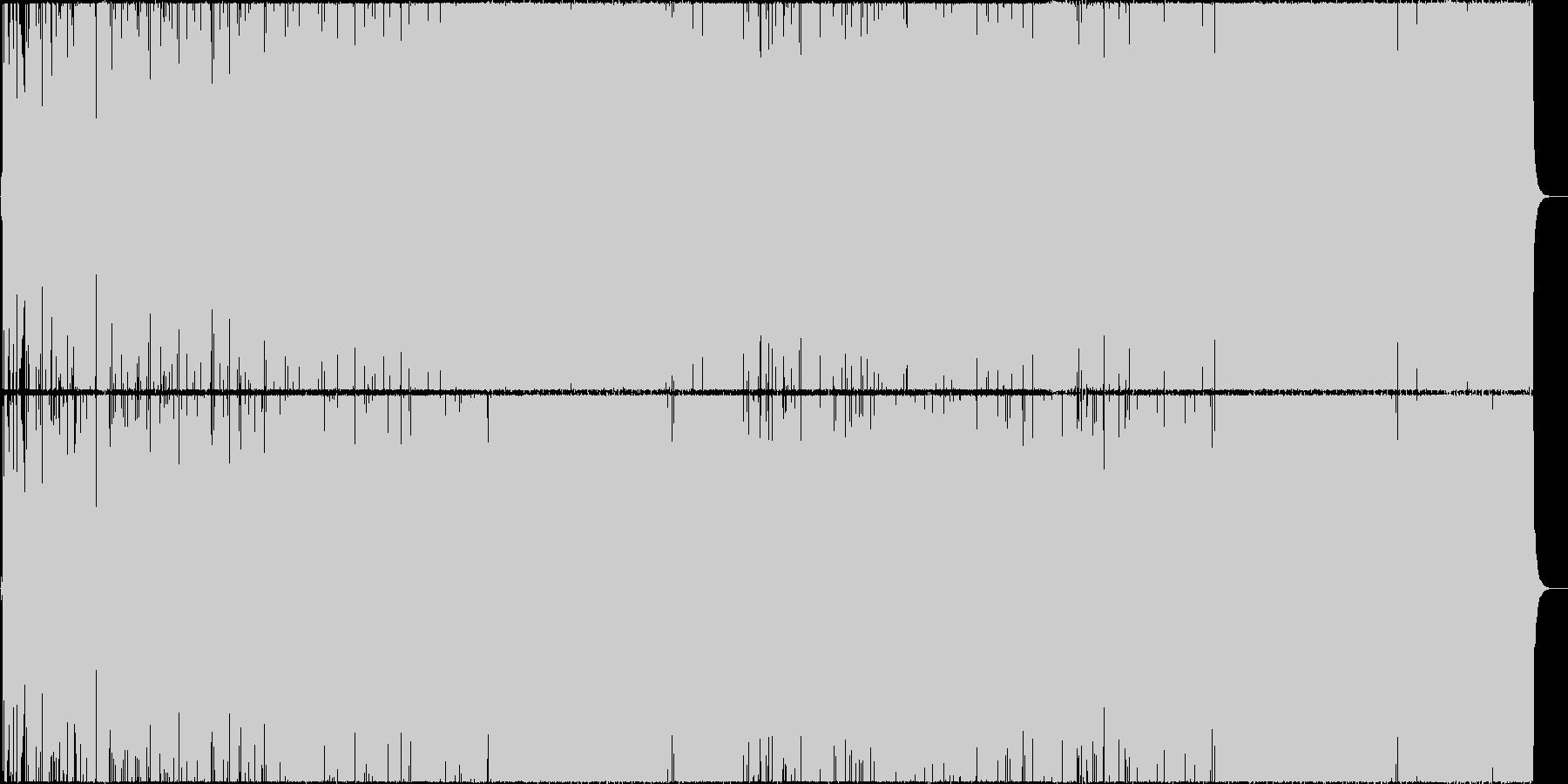 ウキウキとした生のフルートの軽快なBGMの未再生の波形