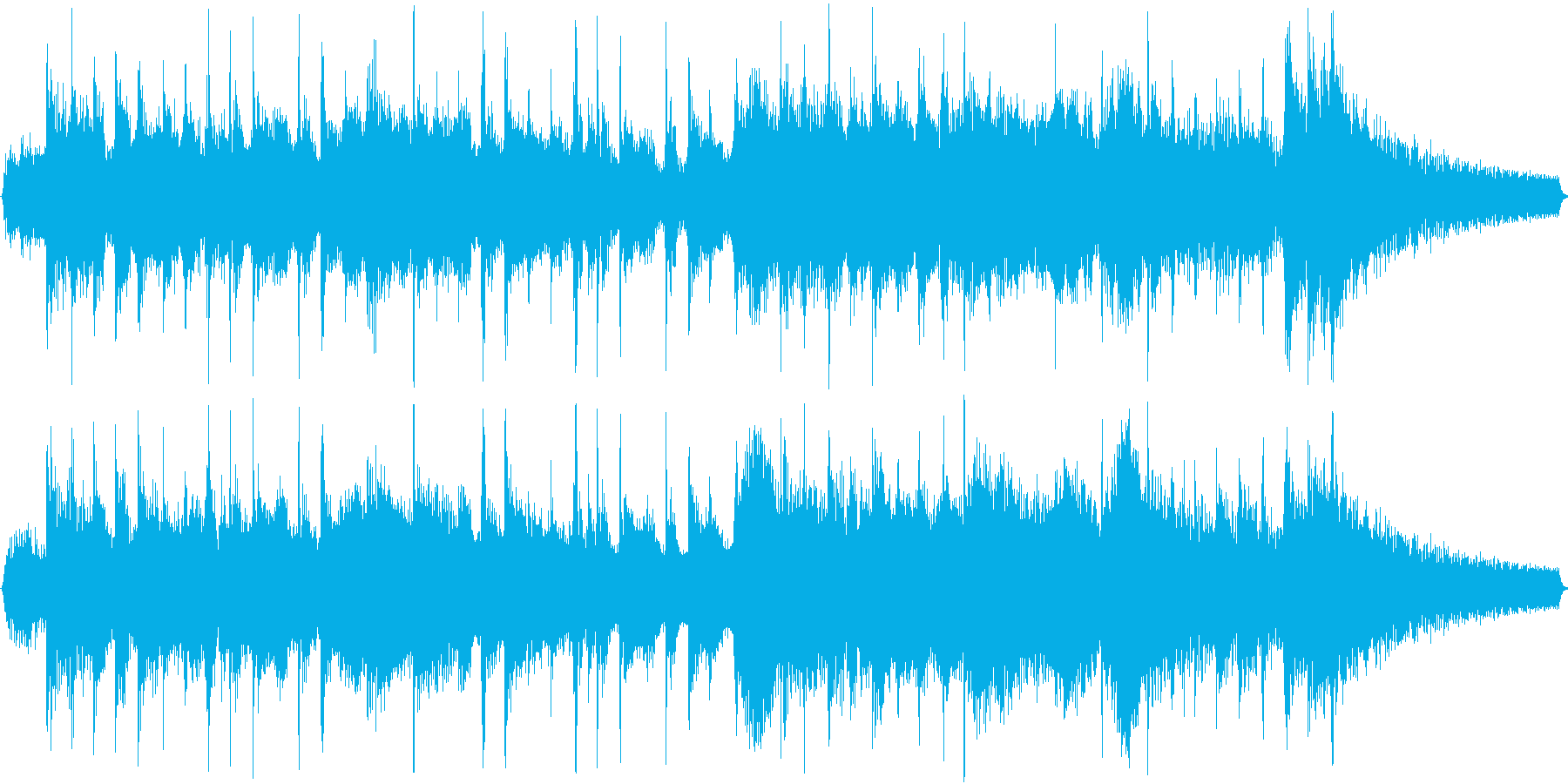 横笛と三味線の掛け合い~ショートの再生済みの波形