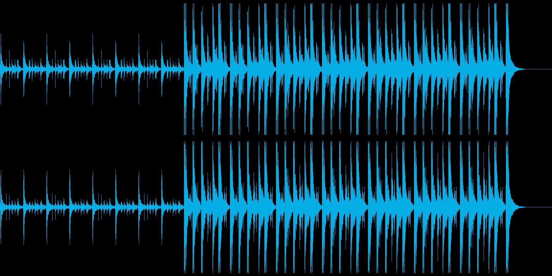 24秒 エスニックな手拍子の再生済みの波形