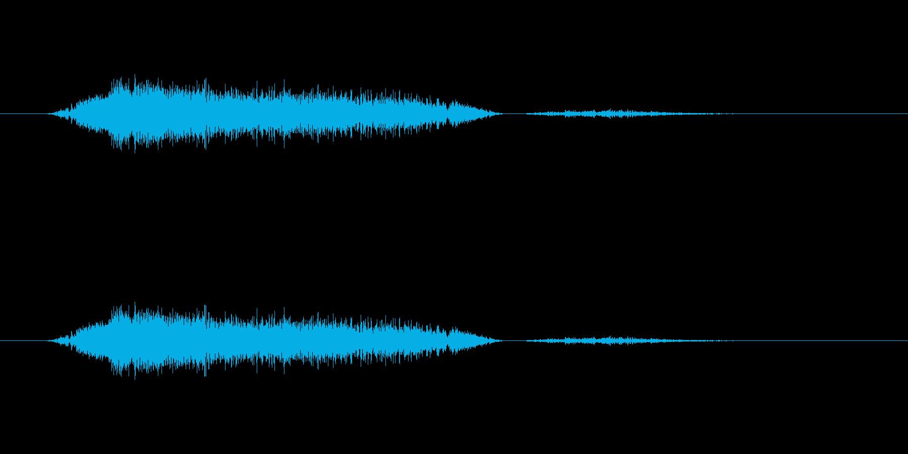 (可愛いあくび)の再生済みの波形
