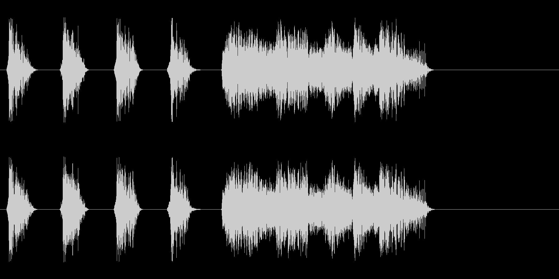 和風楽曲を盛り上げる熱い掛け声_Dryの未再生の波形