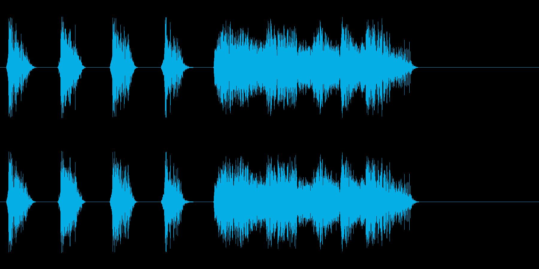 和風楽曲を盛り上げる熱い掛け声_Dryの再生済みの波形