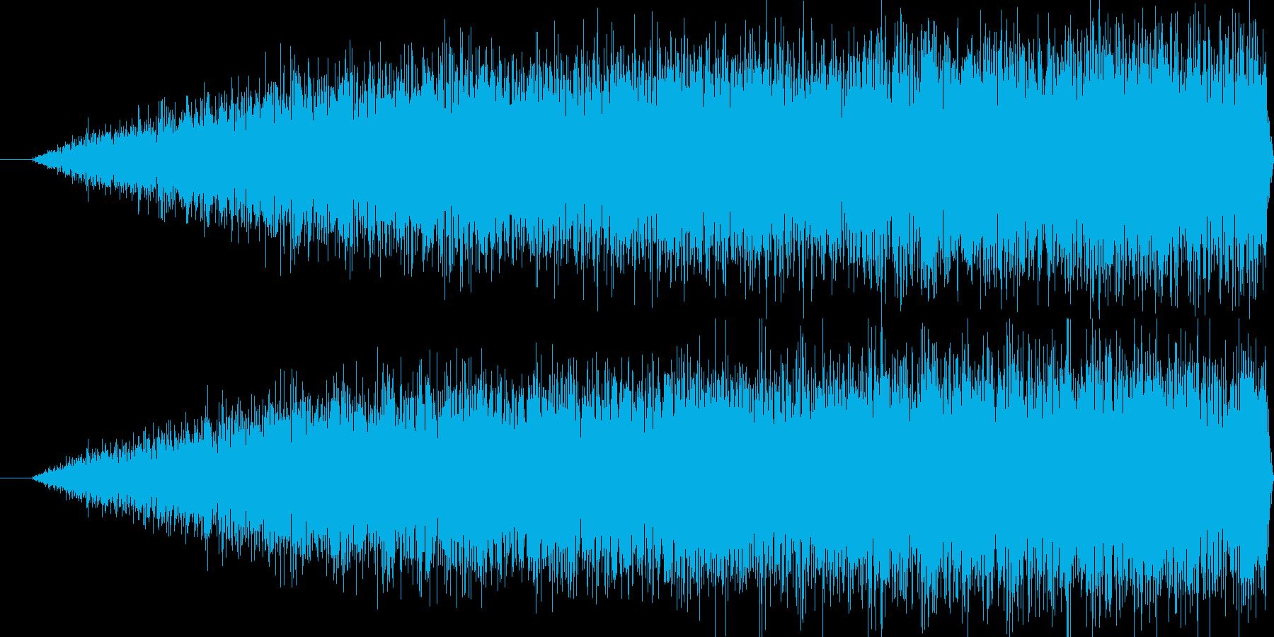 パワーアップ中の音の再生済みの波形