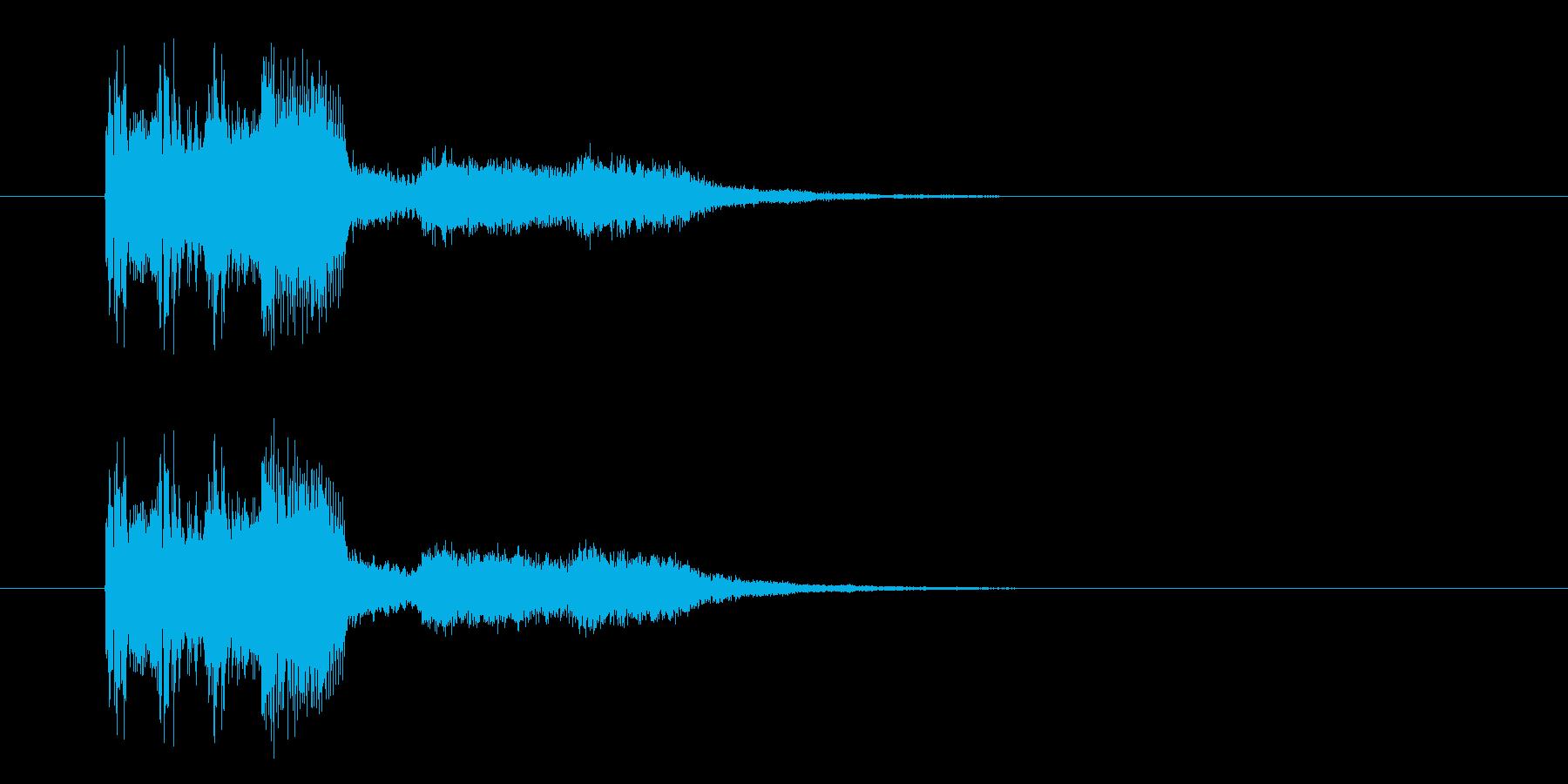激しく疾走感のあるかっこいい音楽の再生済みの波形
