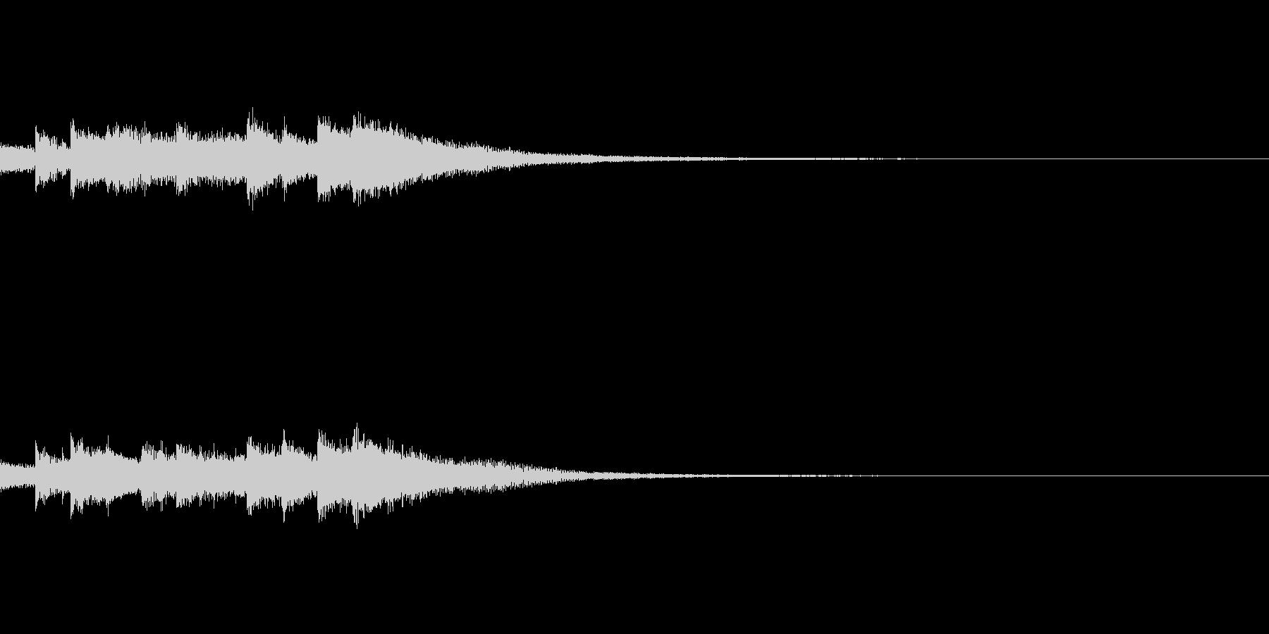 ゲーム・アプリ サウンドロゴに キラキラの未再生の波形