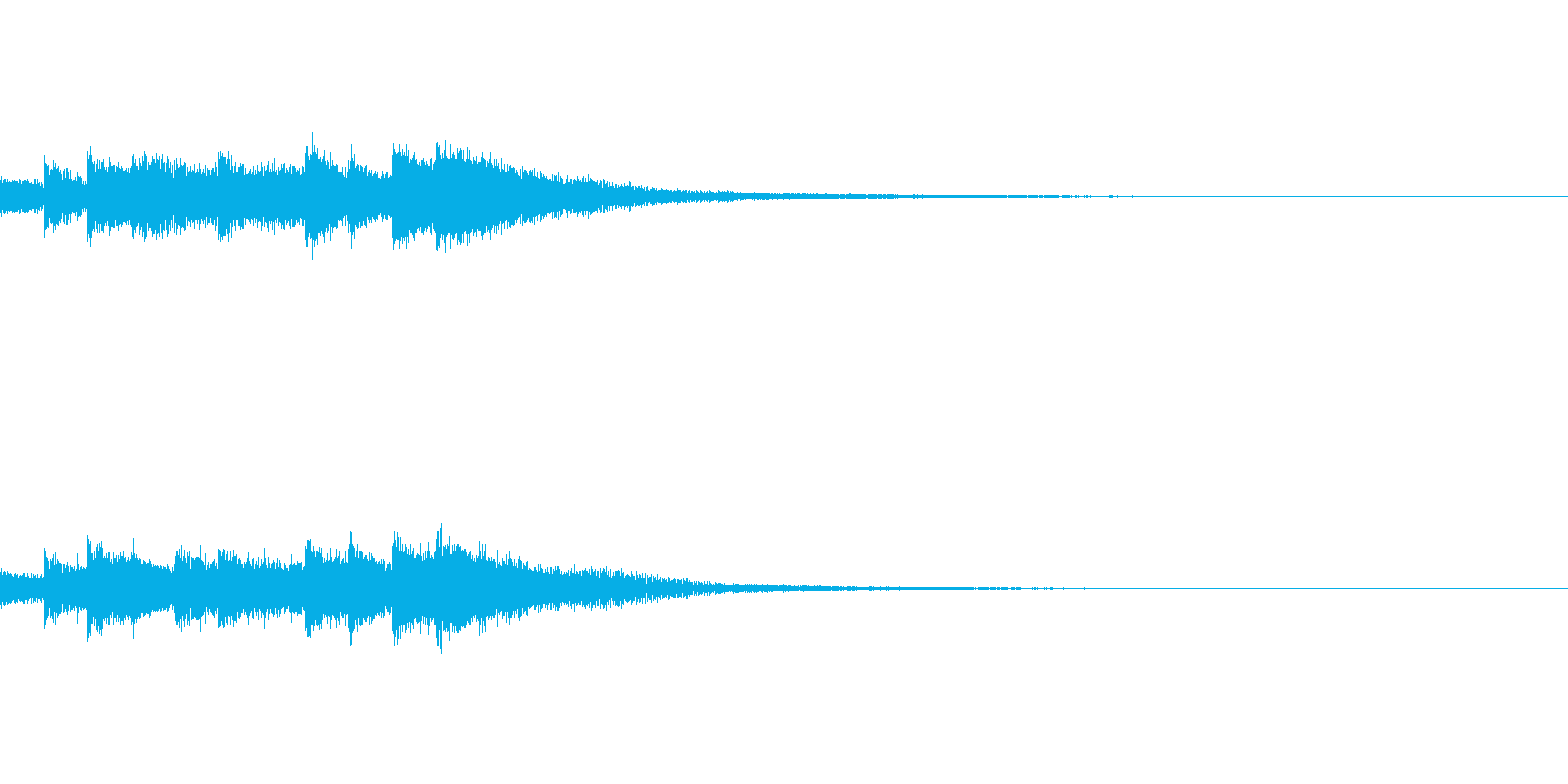 ゲーム・アプリ サウンドロゴに キラキラの再生済みの波形