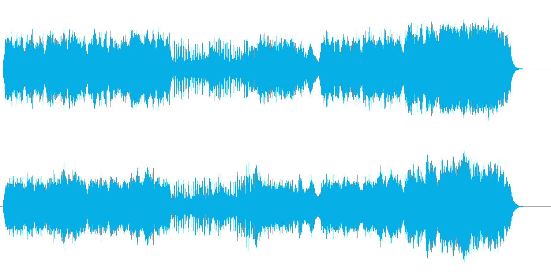 アルプスの夜明けの澄み切ったオーケストラの再生済みの波形