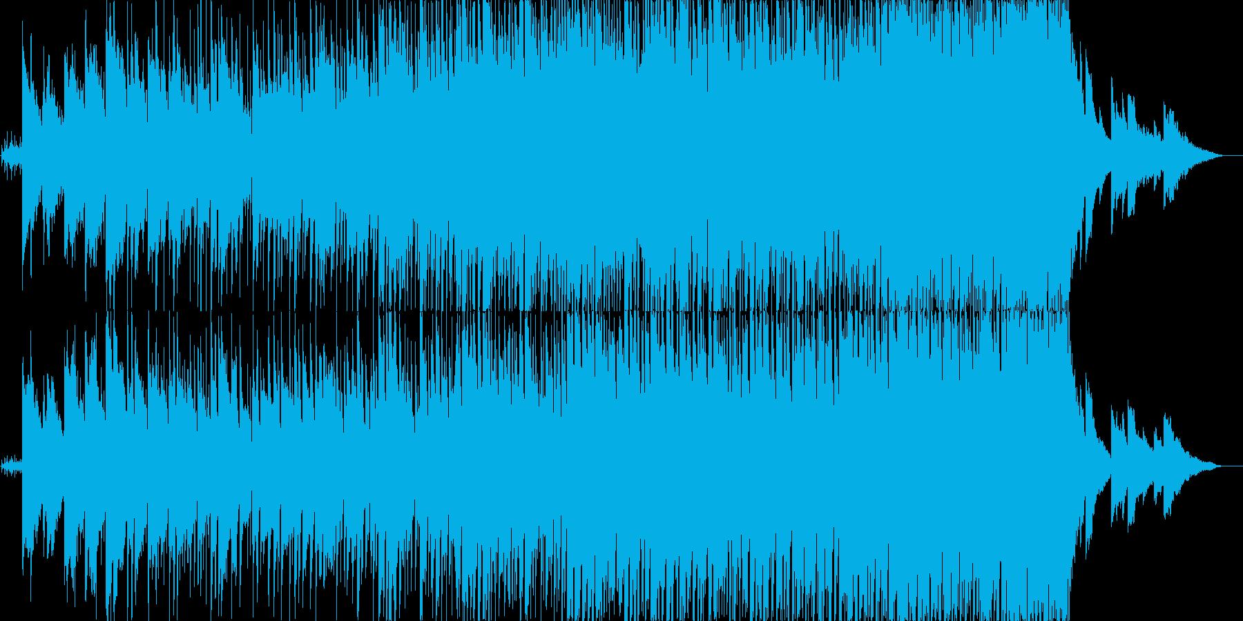バンド系のバラード曲の再生済みの波形