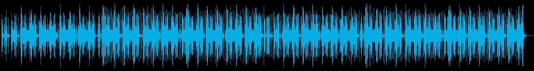 ミディアムテンポなシンセサイザー曲の再生済みの波形